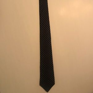 Black tie with red and white design